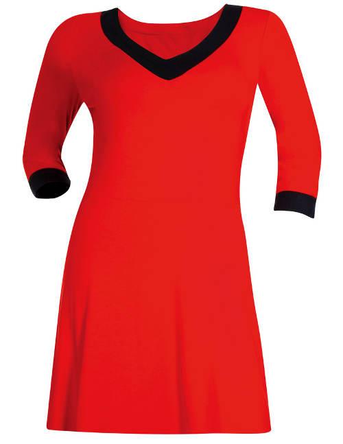 Červená tunika s trojštvrťovými rukávmi