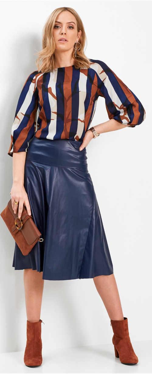 Pruhovaná farebná tunika k sukni