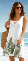Predĺžená plážová tunika na ramienka