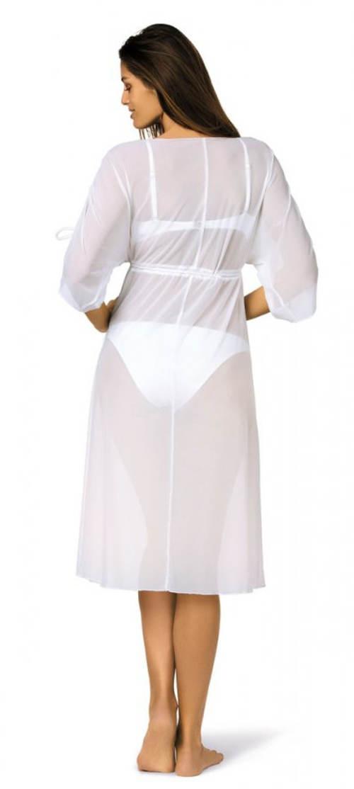 Ľahké midi plážové šaty