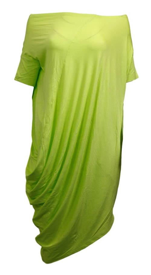 Vzdušná predĺžená zelená tunika