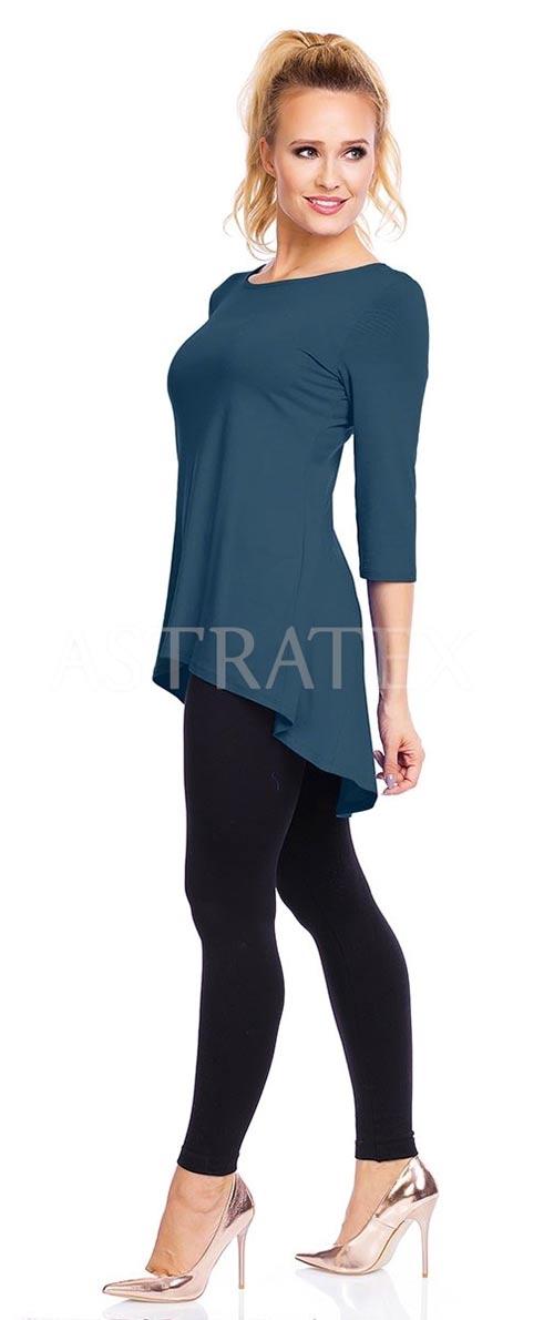 Modrá tunika aj pre tehotné ženy