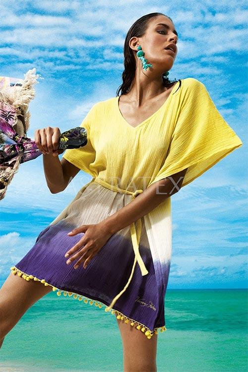 Plážové šaty na nosenie cez plavky
