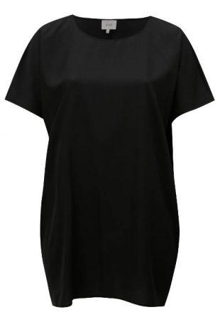 Čierna tunika pre plnoštíhle