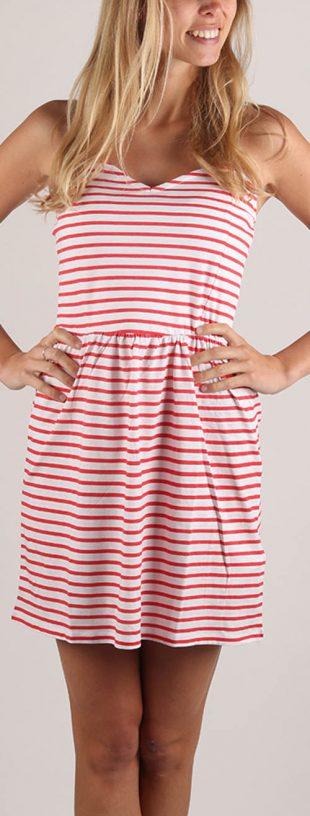 Letné pruhované šaty tunika Terranova